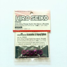 Hiro Seiko 4mm Alloy Flange Nylon Nut [Purple)