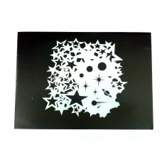RCS Paint Stencil - Star Struck - laser cut mylar reuseable flexible stencil