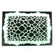 RCS Paint Stencil - Reptile FX - laser cut mylar reuseable flexible stencil (14 x 20cm)