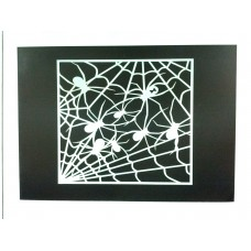 Paint Stencil - Arachnophobia - laser cut mylar re-useable flexible stencil