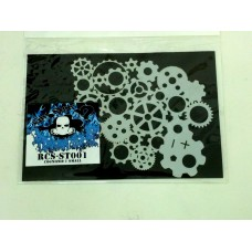 RCS Paint Stencil - Cognized Ver 1 small - laser cut mylar reuseable flexible stencil