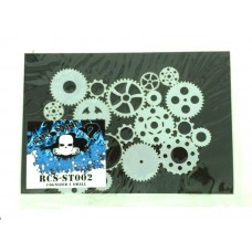 RCS Paint Stencil - Cognized Ver 2 small - laser cut mylar reuseable flexible stencil