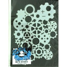 RCS Paint Stencil - Cognized Ver 1 large - laser cut mylar reuseable flexible stencil