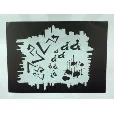 RCS Paint Stencil - Urban FX - laser cut mylar reuseable flexible stencil