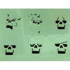 RCS Paint Stencil - Mini Skulls set - laser cut mylar reuseable flexible stencils